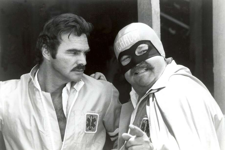 "In this 1981 file photo originally released by 20th Century Fox, Burt Reynolds, left, and Dom DeLuise are shown in a scene from, ""Cannonball Run.""    (AP Photo/20th Century Fox) ** NO SALES **"