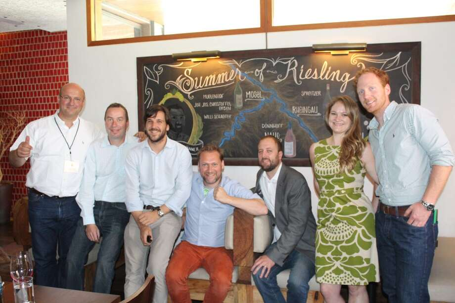The winemakers on the Terry Theise/Pioneer Wine Co. selections at their Austin stop of the tour for Summer of Riesling.