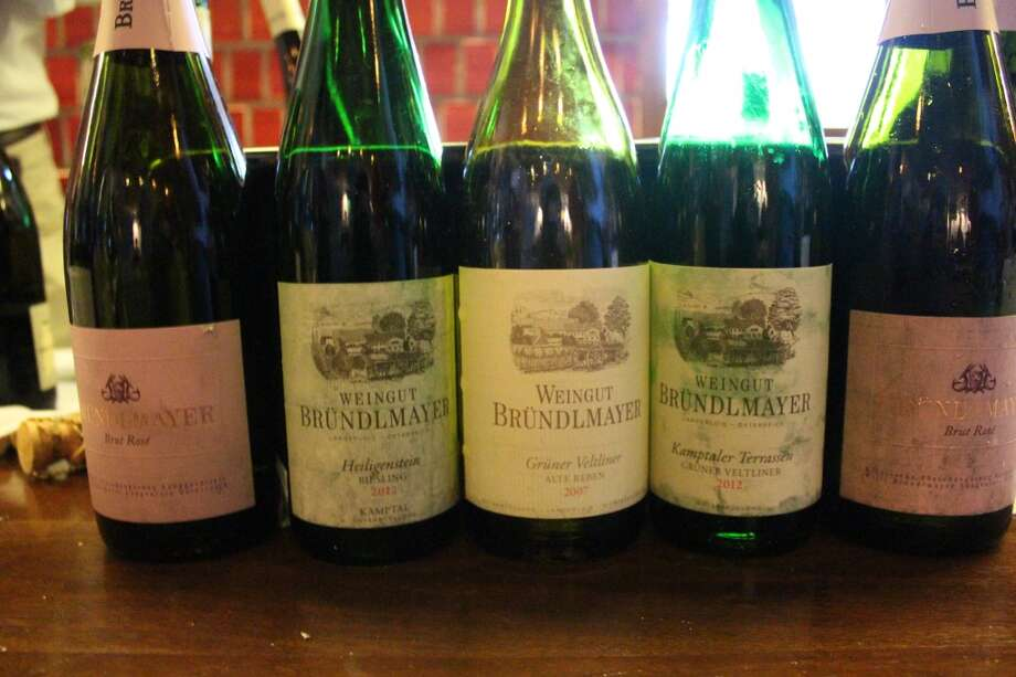 Selections from Weingut Bründlmayer in Austria included a sparkling rosé, Grüner Veltliner wines from 2012, which was crisp and acidic, to compare with 2007, which exhibited more mellow, toned-down flavors. Their 2012 Grüner Veltliner Spiegel had floral, perfumy aromas and, although dry, it had notes of baked apples and a hint of almonds.