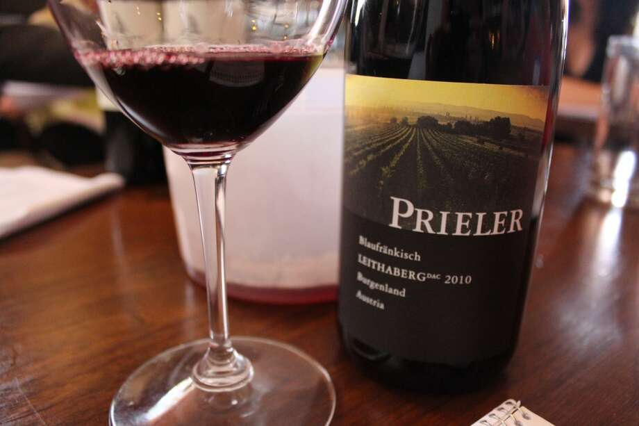 2010 Prieler Leithaberg Blaukfränkisch is more fruit forward with rose notes and medium tannins.