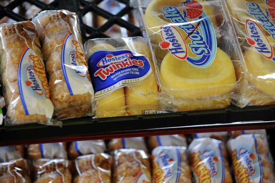 Packages of Hostess Donettes, Twinkies and Shortcake sit on the shelf at the Wonder Bread Bakery Outlet on Wells Street in Bridgeport, Conn. on Friday, Nov. 16, 2012. Photo: Cathy Zuraw / Connecticut Post