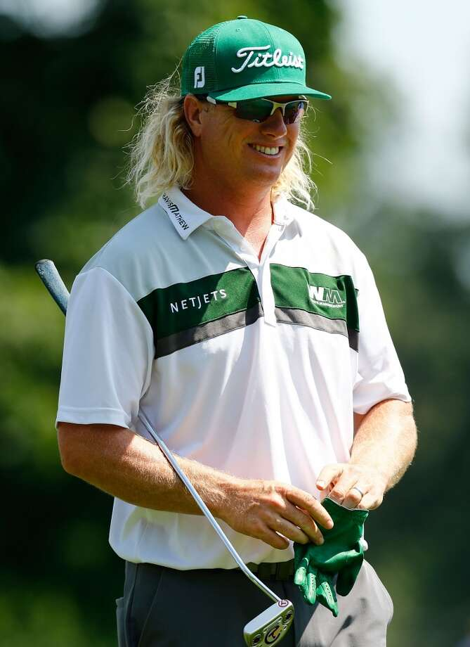 CROMWELL, CT- JUNE 23: Charley Hoffman laughs during the final round of the 2013 Travelers Championship at TPC River Highlands on June 23, 2012 in Cromwell, Connecticut.  (Photo by Jared Wickerham/Getty Images)