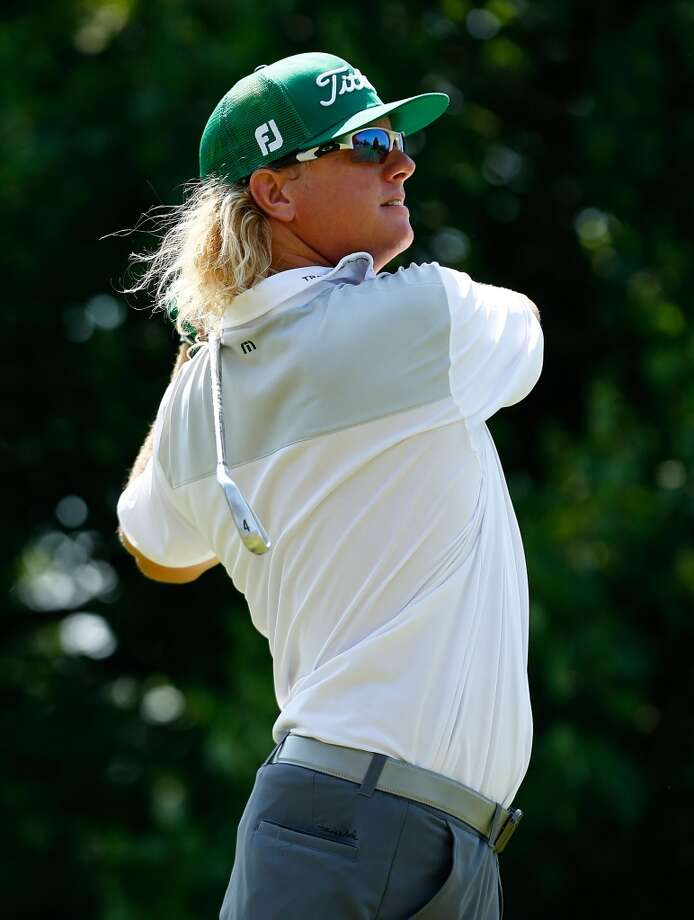 CROMWELL, CT- JUNE 23: Charley Hoffman tees off on the 9th hole during the final round of the 2013 Travelers Championship at TPC River Highlands on June 23, 2012 in Cromwell, Connecticut.  (Photo by Jared Wickerham/Getty Images)
