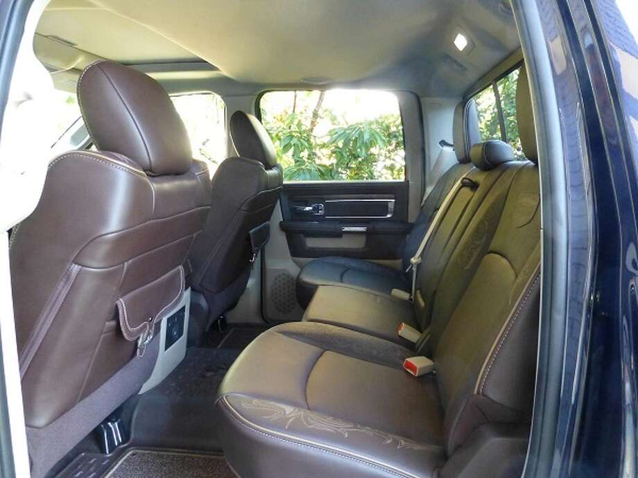 The crew cab will carry three passengers in the second row of seats, but the center seat is pretty hard.