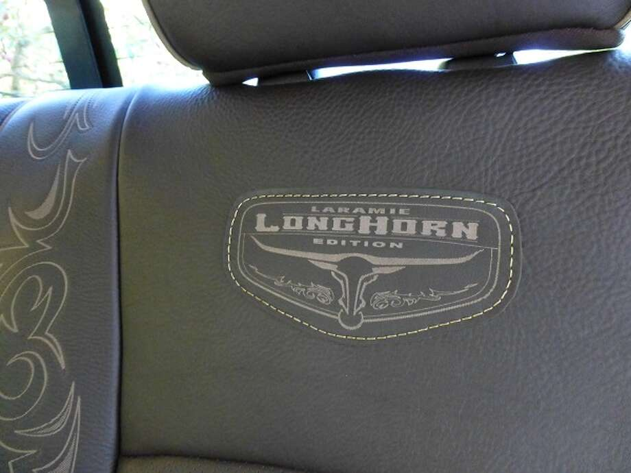 One of the many etchings on the truck's interior tells you this is not your basic ranch work truck.