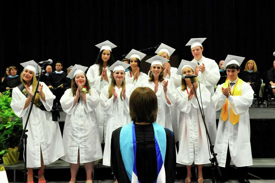 Joel Barlow High School Class of 2013 holds commencement ceremonies at the O'Neill Center, on the campus of Western Connecticut State University, in Danbury, Conn. Sunday, June 23, 2013. Photo: Michael Duffy / The News-Times