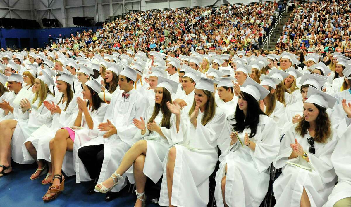 Joel Barlow High School Class of 2013 holds commencement ceremonies at the O'Neill Center, on the campus of Western Connecticut State University, in Danbury, Conn. Sunday, June 23, 2013.