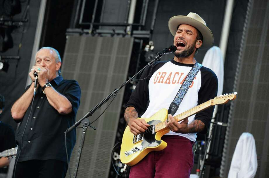 Charlie Musselwhite and Ben Harper perform onstage at the Firefly Music Festival at The Woodlands of Dover International Speedway on June 23, 2013 in Dover, Delaware.  Photo: Theo Wargo, (Credit Too Long, See Caption) / 2013 Getty Images