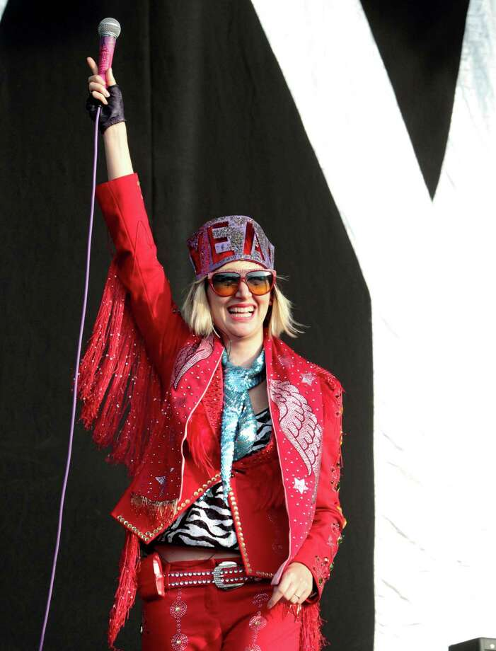 Karen O of the rock band Yeah Yeah Yeahs performs on Day 2 of the Firefly Music Festival at The Woodlands on Saturday, June 22, 2013 in Dover, Del.  Photo: Owen Sweeney, Associated Press / Invision