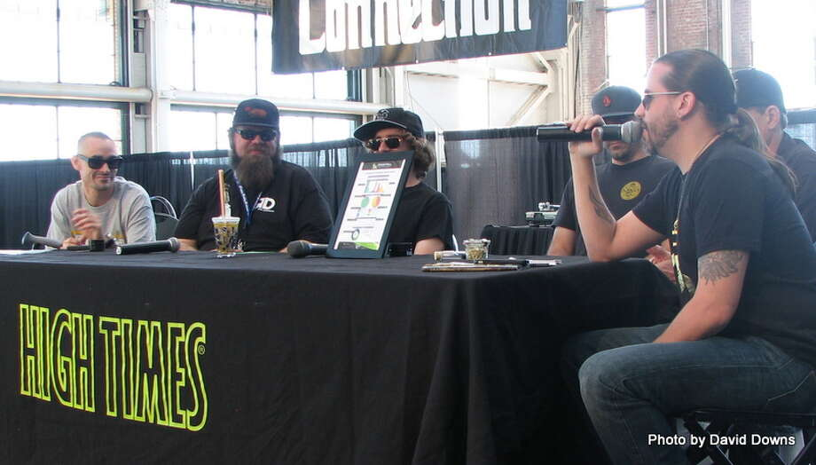 Panelists educate visitors on the benefits and risks of concentrates at the dabbing panel Photo: Picasa