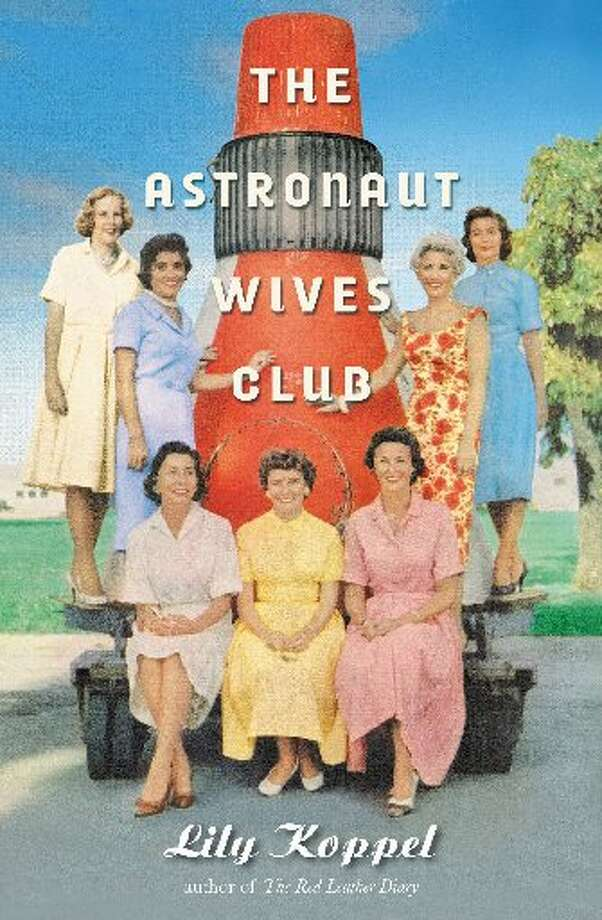 The cover of Lily Koppel's new book features a photo of the wives of the original seven astronauts. Standing in the back row from left: Jo Schirra, Annie Glenn, Rene Carpenter and Trudy Cooper. Seated: Marge Slayton, Betty Grissom, Louise Shepard. The  wives are arranged around a model of the Mercury capsule their husbands would ride into space. (Ralph Moore, Life)