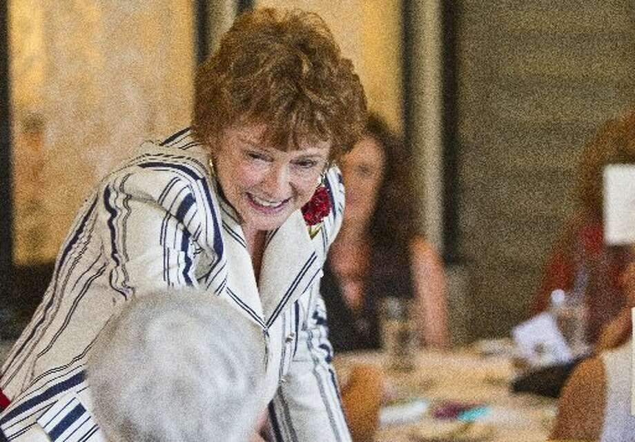 Beth Williams, wife of late astronaut Clifton 'C.C.' Williams, during a tea and book party for Lily Koppel, author of The Astronaut Wives Club, June 19, 2013, in Houston. ( Nick de la Torre / Houston Chronicle)