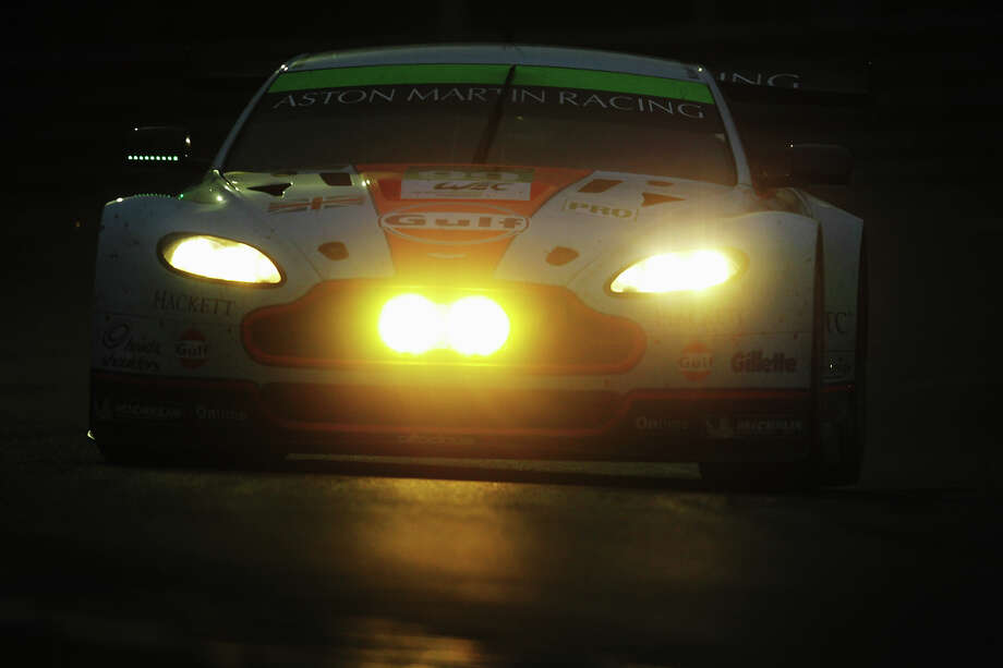 The Aston Martin Racing Vantage of Rob Bell, Fred Makowiecki and Bruno Senna drives during the Le Mans 24 Hour race at the Circuit de la Sarthe on June 22, 2013 in Le Mans, France. Photo: Ker Robertson, Getty Images / 2013 Getty Images