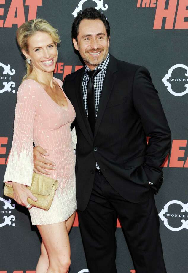 "Mexican actor Demian Bichir and actress Stefanie Sherk attend ""The Heat"" premiere at the Ziegfeld Theatre on Sunday, June 23, 2013 in New York. Photo: Evan Agostini, Evan Agostini/Invision/AP / Invision"
