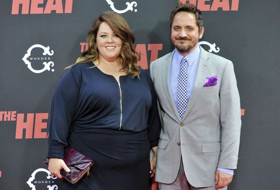 "Actress Melissa McCarthy and husband actor Ben Falcone attend ""The Heat"" premiere at the Ziegfeld Theatre on Sunday, June 23, 2013 in New York. Photo: Evan Agostini, Evan Agostini/Invision/AP / Invision"