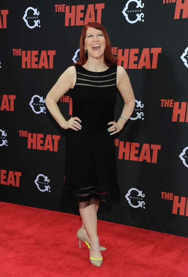 "Actress Kate Flannery attends ""The Heat"" premiere at the Ziegfeld Theatre on Sunday, June 23, 2013 in New York. Photo: Evan Agostini, Evan Agostini/Invision/AP / Invision"
