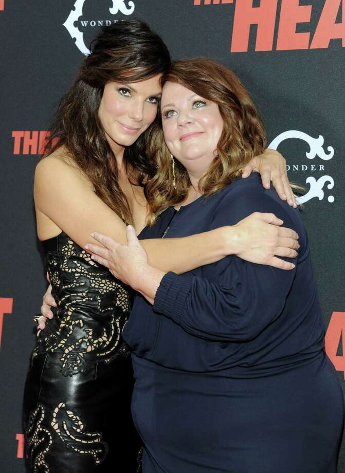 "Actors Sandra Bullock, left, and Melissa McCarthy attend ""The Heat"" premiere at the Ziegfeld Theatre on Sunday, June 23, 2013 in New York. Photo: Evan Agostini, Evan Agostini/Invision/AP / Invision"