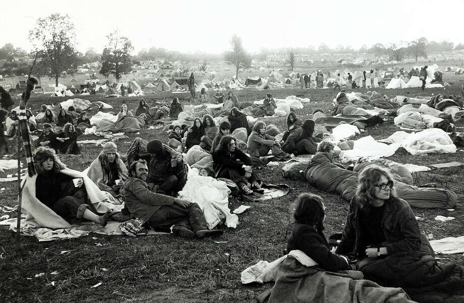 1971: Some of the 10,000 young people in the improvised campsite at the Glastonbury Pop Festival. Photo: Bentley Archive/Popperfoto, Popperfoto/Getty Images / Popperfoto