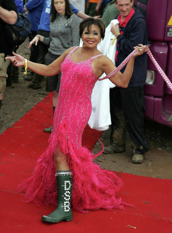 2007: Dame Shirley Bassey poses backstage after she performed on the Pyramid Stage at Worthy Farm, Pilton near Glastonbury, on June 24 2007 in Somerset, England. Photo: Matt Cardy, Getty Images / 2007 Getty Images