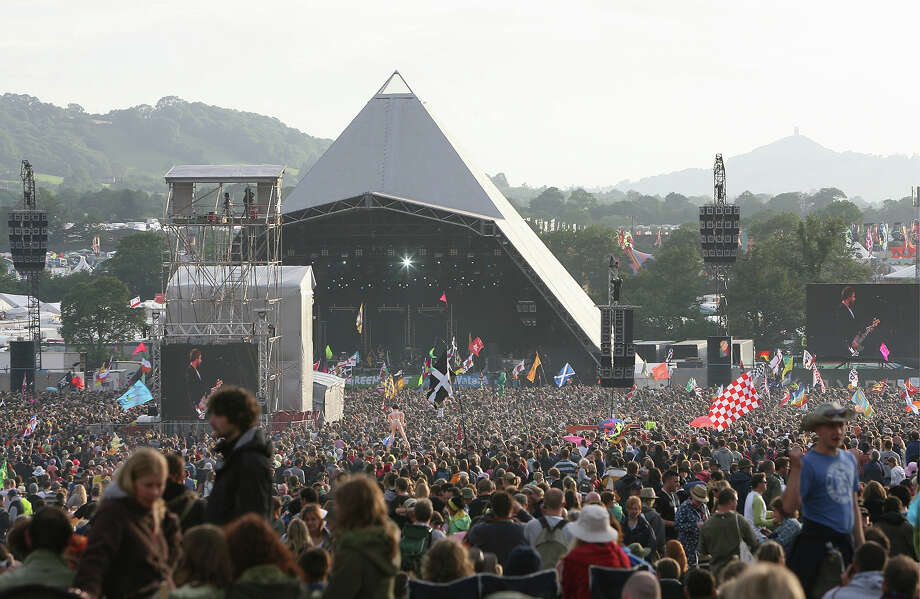 2007:  A view of the Pyramid Stage at Glastonbury Festival. Photo: Jon Super, Redferns / Redferns