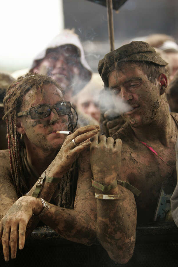 2005: Mud people at Glastonbury. Photo: Jon Super, Redferns / Redferns