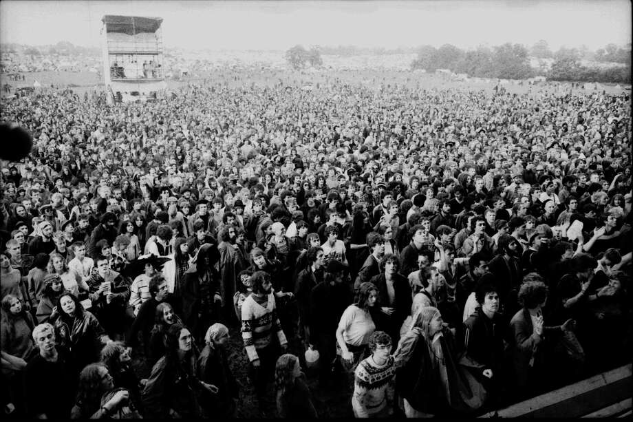 1982: The crowd at Glastonbury. Photo: David Corio, Redferns / Redferns