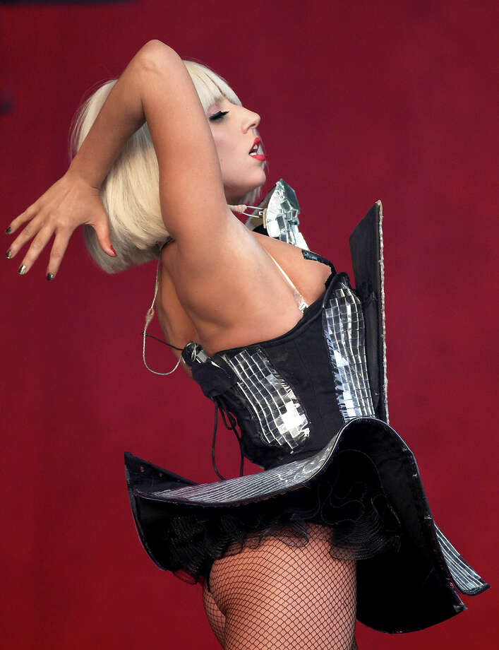 2009: Lady GaGa performs on the Other Stage at the Glastonbury Festival on June 26, 2009 in Glastonbury, England. Photo: Matt Cardy, Getty Images / 2009 Getty Images
