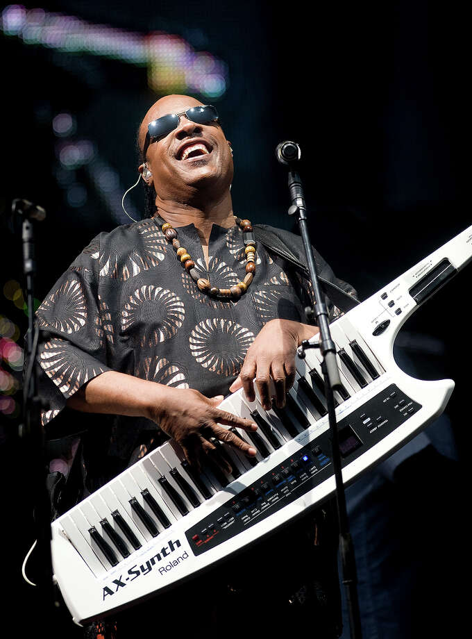 2010: Stevie Wonder headlines the Pyramid Stage at the Glastonbury Festival on June 27, 2010 in Glastonbury, England. Photo: Samir Hussein, Getty Images / 2010 Samir Hussein
