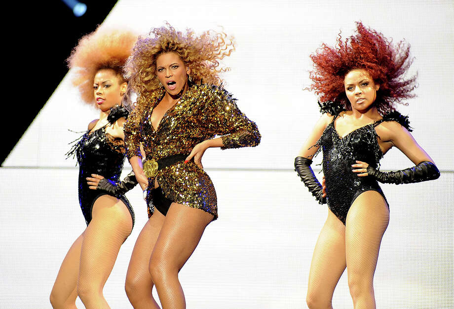 2011: Beyonce Knowles headlines the Pyramid stage on the fourth and final day of Glastonbury Festival 2011 at Worthy Farm on June 26, 2011 in Glastonbury, United Kingdom. Photo: Tabatha Fireman, Redferns / 2011 Tabatha Fireman