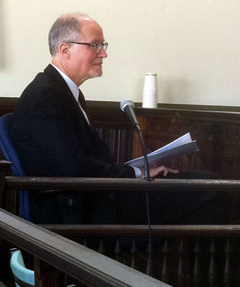 Bridgeport Superintendent of Schools Paul Vallas on the witness stand in Bridgeport, Conn. on Monday, June 24, 2013. Photo: Dan Tepfer / Connecticut Post