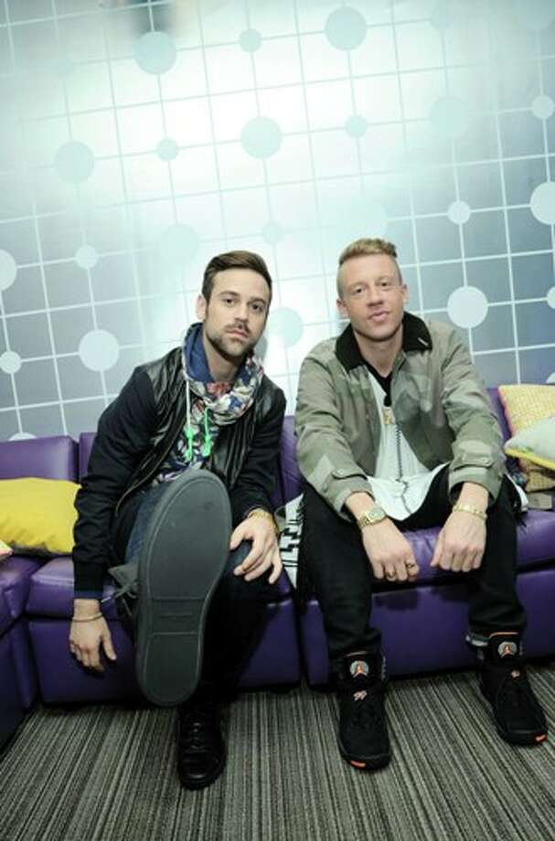 "1981 x 3000~~$~~NEW YORK, NY - MAY 20:  Ryan Lewis and Macklemore backstage at BET's ""106 & Park"" at BET Studios on May 20, 2013 in New York City. Photo: Ilya S. Savenok / 2013 Getty Images"