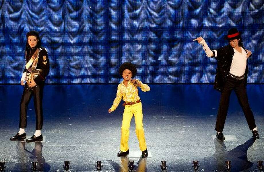 Michael Jackson wax figures.