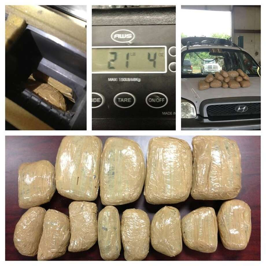 Rosenberg police seized more than 20 pounds of heroin during a traffic stop Friday on U.S. 59. Photo: RPD