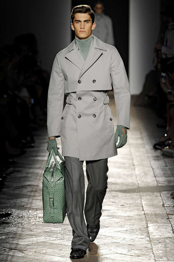 """The Gestapo""From the Daks Spring Summer 2014 collection. Photo: Catwalking, Getty Images / 2013 Catwalking"