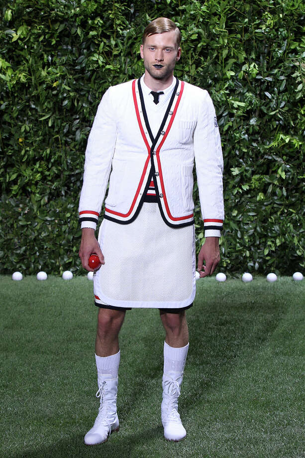 """The Kid That Gets Beat Up At Lunch""From the Moncler Gamme Bleu's collection. Photo: Antonio De Moraes Barros Filho, Getty Images / 2013 Antonio de Moraes Barros Filho"