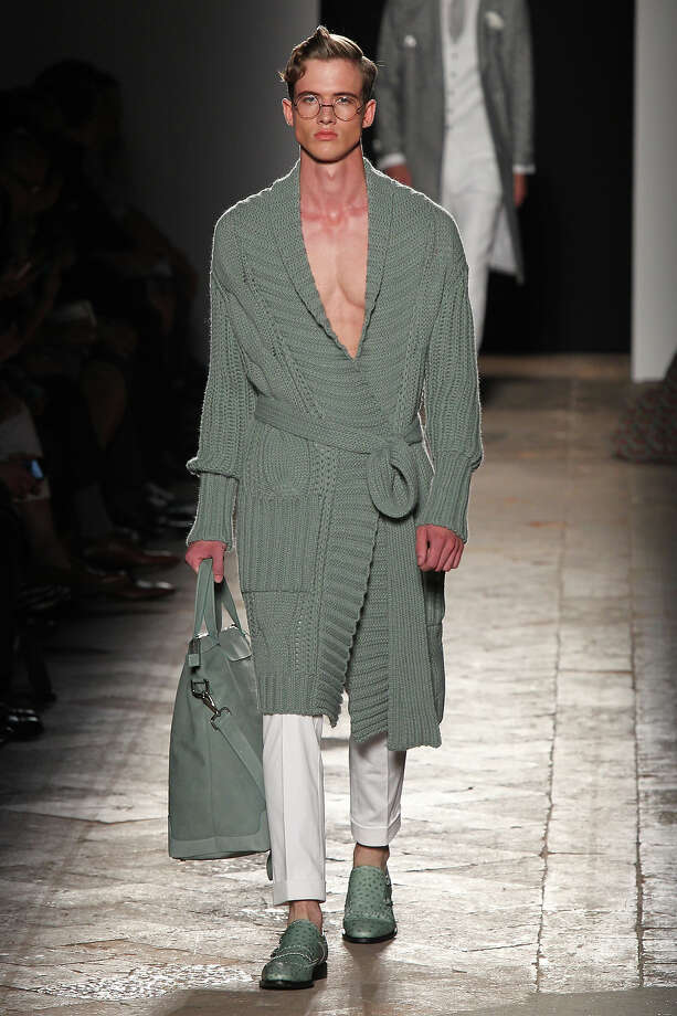 """The Bathrobe"" From the Daks show in Milan. Photo: Antonio De Moraes Barros Filho, WireImage / 2013 Antonio de Moraes Barros Filho"