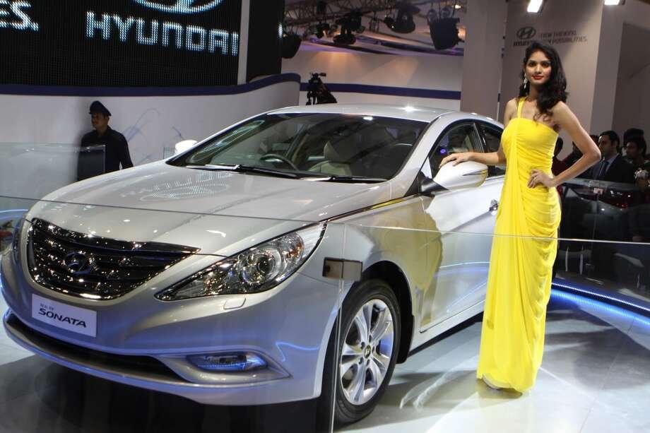 2013 Hyundai Sonata   (Photo by Sonu Mehta/Hindustan Times via Getty Images)