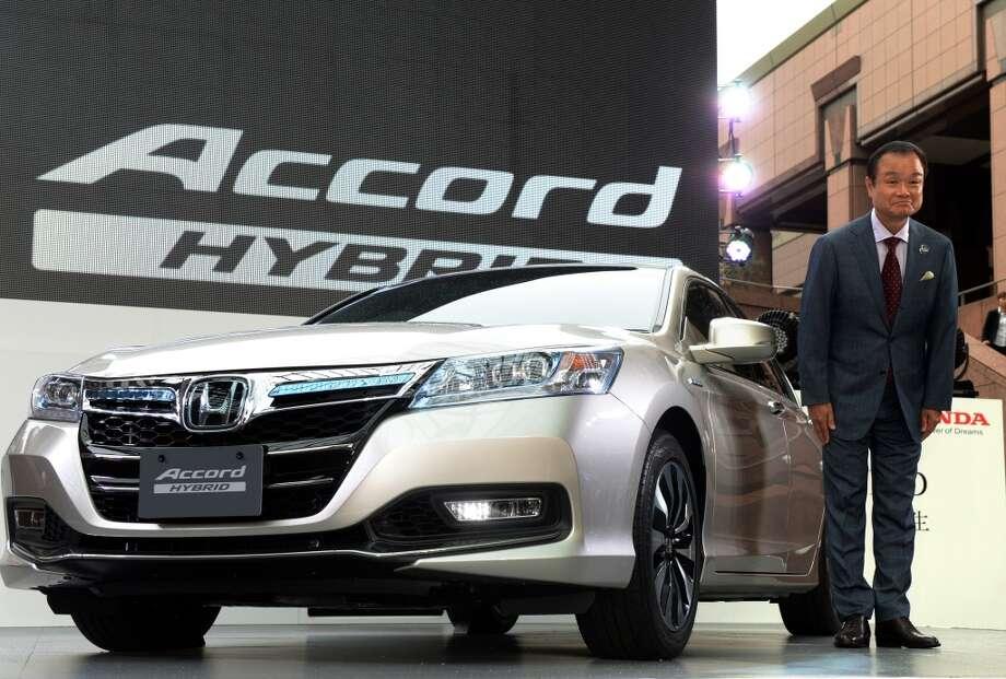 2013 Honda Accord  (Photo credit should read YOSHIKAZU TSUNO/AFP/Getty Images)