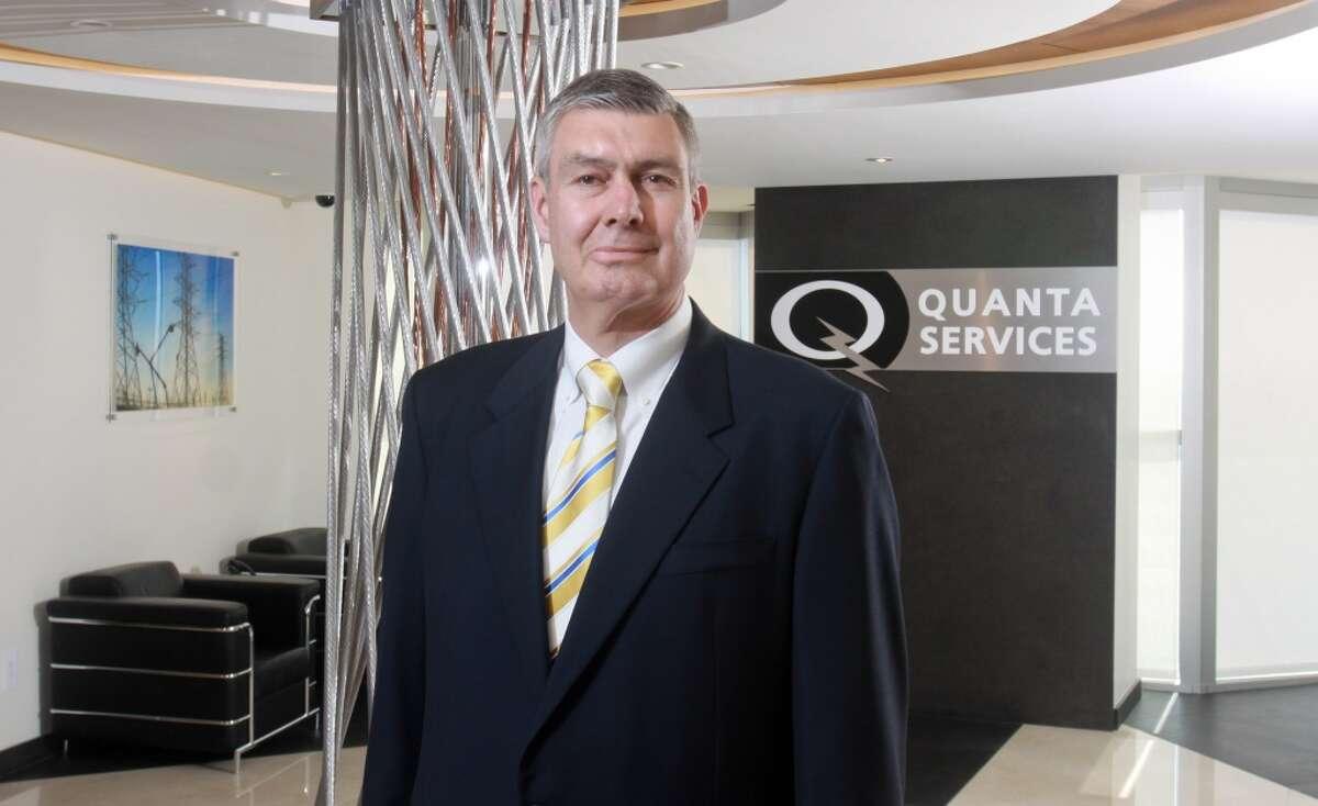 No. 1 - Quanta Services 2012 revenue - $5.9 billion Earnings per share growth - 143% [Photo: James F. O'Neil, CEO of Quanta Services.]