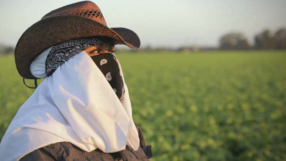 "Maricruz Ladino talks about the sexual abuse migrant farmworkers face in ""Rape in the Fields"" on ""Frontline."" Photo: PBS"