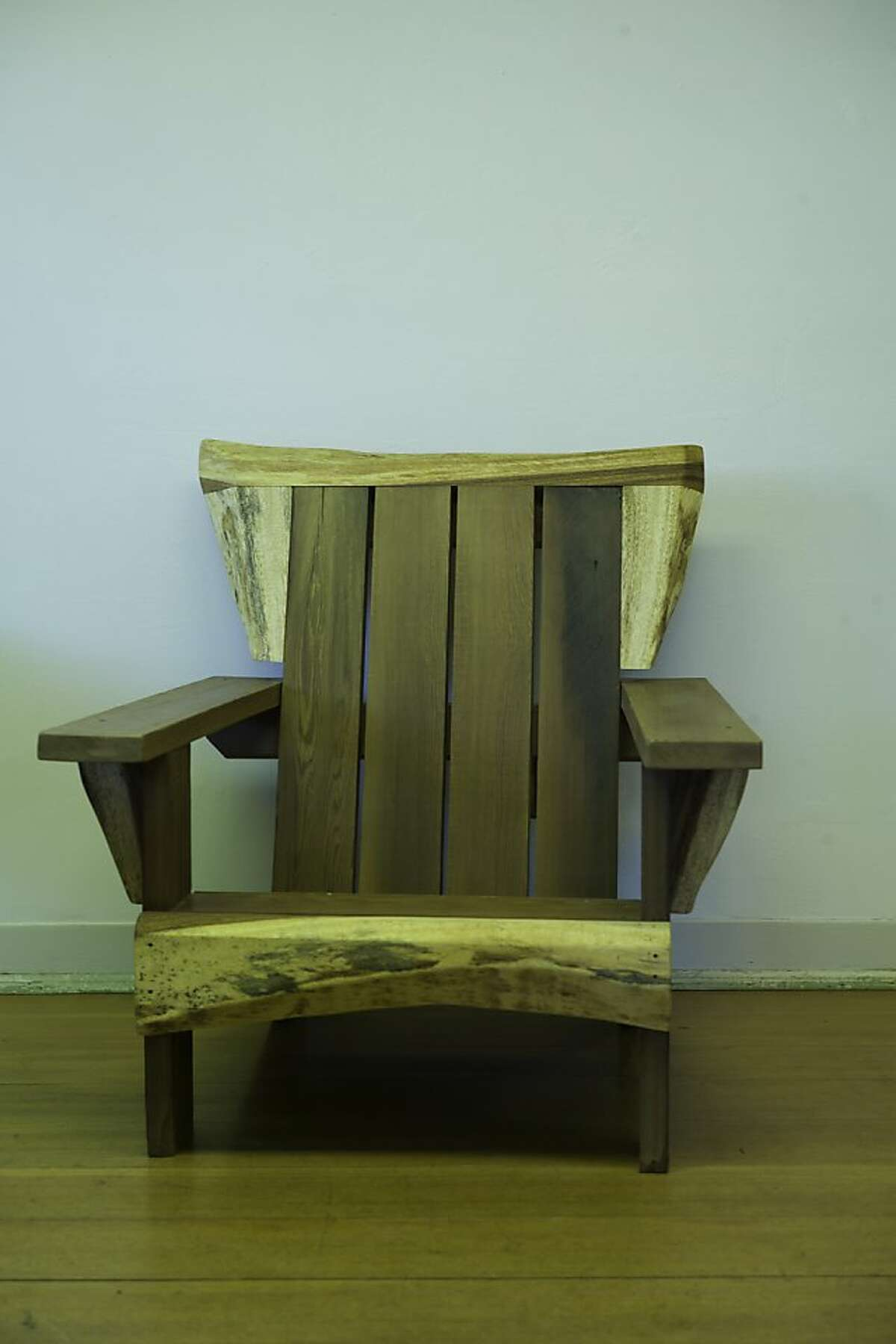 An adirondack chair is seen at Heritage Salvage in Petaluma, Calif., on Friday, June 14, 2013.