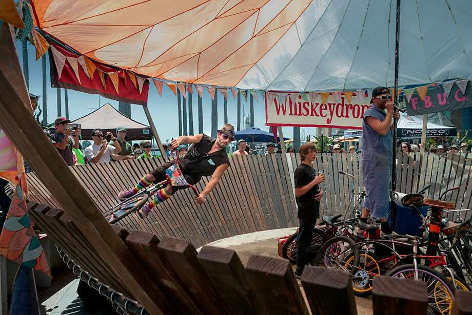 If you like the wilder side, check out the Whiskeydrome - showcasing speedy daredevil technique - and the BMX stunt team. Photo: Courtesy East Bay Bicycle Coalit