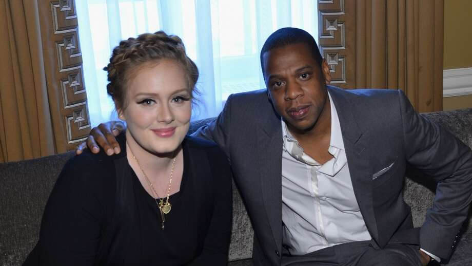 NEW YORK, NY - JUNE 21:  Adele and Jay-Z attend a luncheon honoring Rob Stringer as UJA-Federation of New York Music Visionary of 2013 at The Pierre Hotel on June 21, 2013 in New York City.  (Photo by Larry Busacca/Getty Images for Sony Music)