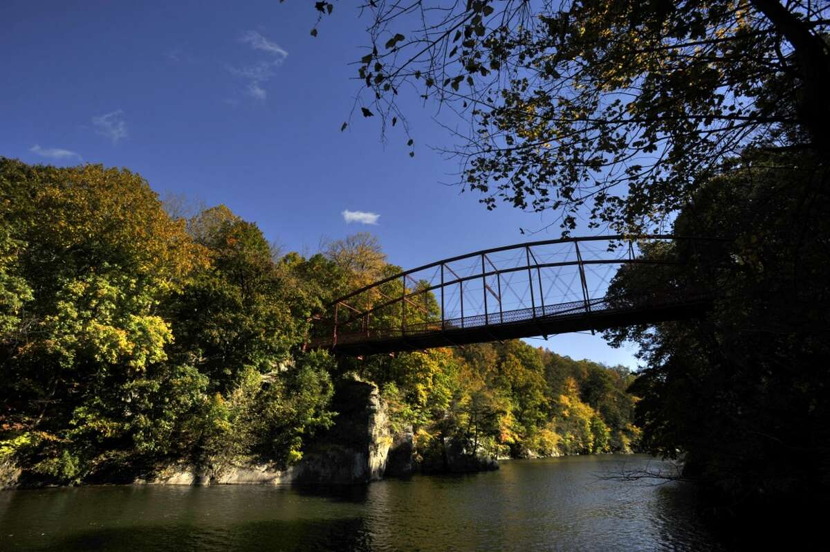 Lovers Leap State Park, New Milford There is no proof that this happened, but legend has it: