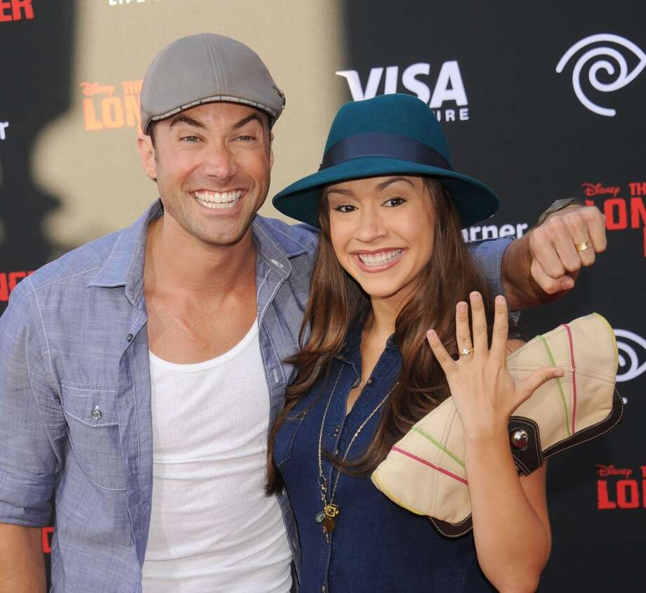 """ANAHEIM, CA - JUNE 22:  Singer Ace Young and actress/singer Diana DeGarmo arrive at """"The Lone Ranger"""" World Premiere at Disney's California Adventure on June 22, 2013 in Anaheim, California.  (Photo by Gregg DeGuire/WireImage)"""