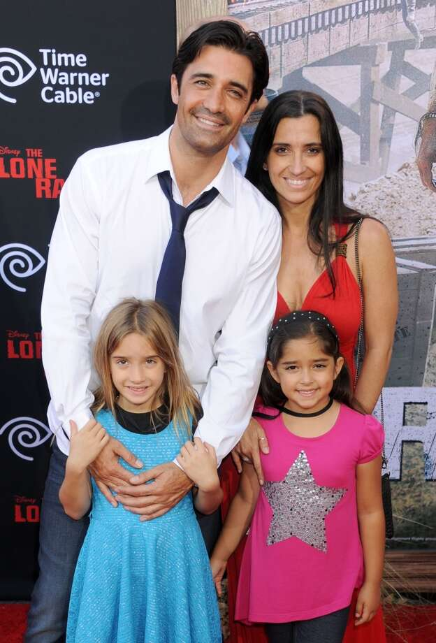 "ANAHEIM, CA - JUNE 22: Actor Gilles Marini and wife Carole Marini arrive at ""The Lone Ranger"" World Premiere at Disney's California Adventure on June 22, 2013 in Anaheim, California.  (Photo by Gregg DeGuire/WireImage)"