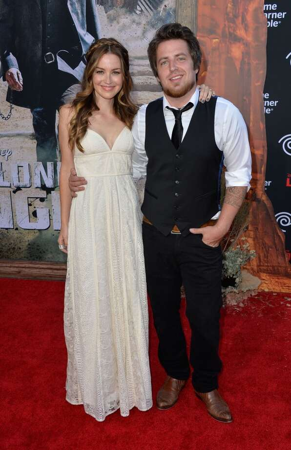 ANAHEIM, CA - JUNE 22:Singer Lee DeWyze (R) and actress/wife Jonna Walsh  arrive at the premiere of Walt Disney Pictures' 'The Lone Ranger' at Disney California Adventure Park on June 22, 2013 in Anaheim, California.  (Photo by Frazer Harrison/Getty Images)