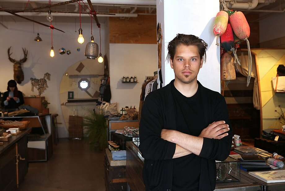 Designer and owner Robert Patterson, from top, of collaborative retail space Voyager on Valencia Street in S.F. Photo: Liz Hafalia, The Chronicle