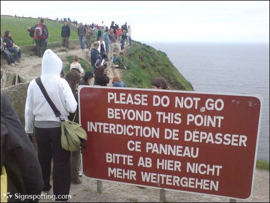 Must have been opposite day. Cliffs of Moher, Ireland.