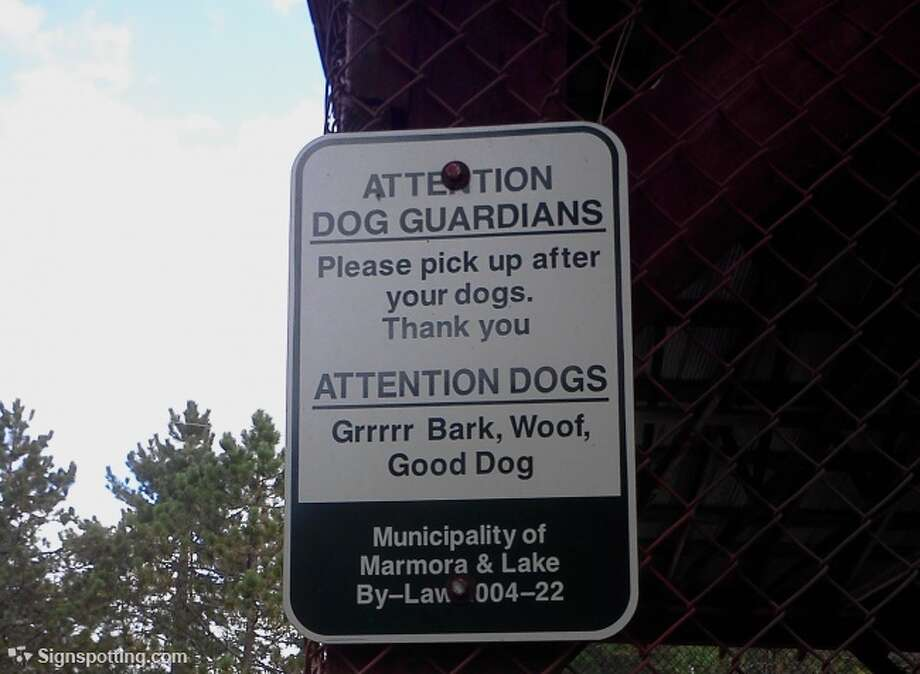 C'mon, everyone knows 'thank you' is actually 'ruff, ruff' in dog. Marmora, Ontario. Canada.